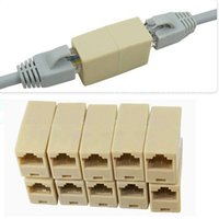 10pcs RJ45 CAT5 acoplador Plug LAN rede cabo Extensor Connector Adapter Novo