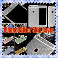 Wholesale Iphone 4s Water Sticker - Glitter sticker Luxury Colorful Full Body Coverage Glitter Bling Rhinestone Sticker Skin Cover Case for iphone 6 6S plus 5 SE 4S 01