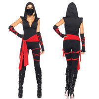 Wholesale Ninja Sexy Costume - Adults Womens Shadow Ninja Warrior Sexy Fancy Dress Halloween Costume S360