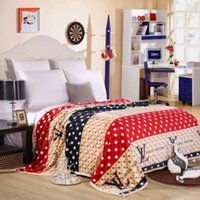 Wholesale Cm C - new arrival L Fashion brand flannel blankets 150 * 200 cm, C, L, mushrooms, stars, zebra, much more pattern size, high quality blanket