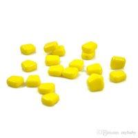 Wholesale Popping Lures - New Fishing Yellow Pop up Soft Yellow Corn coarse Carp Fishing Lure Floating Bait Enterprise Baits 50 PCS BAG