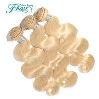 Wholesale multi color hair extension for sale - Cheap Brazilian Hair Body Wave Pure Hair Extensions Multi Color Blonde Pure Human Hair Weave Double Weft