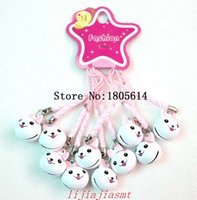Wholesale Small Craft Charms - 100Pcs fashion popular women girl Copper Small Jingle Bells Cute Rabbit Pendants DIY Crafts Handmade Accessories