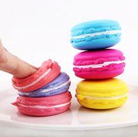 Wholesale Dessert Toys - Macaron Dessert Cake Cute Slow Rising Kawaii Soft Squishy Cell phone Straps Keychains Kids Toys Gift 300 pcs YYA414