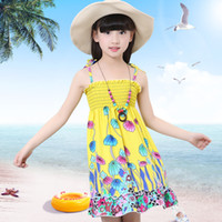 Wholesale Korean Garments Red - Children garments 2016 Korean new summer children garments temperament thin Bohemia beach Girl Dress