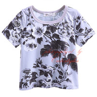Wholesale boys tops tee shirts for sale - 2016 Cutestyles New Summer Hot Sale Boys T Shirt Fashionable Flower Print Boy Tops O Neck Children Short Sleeves Tees BT90311 L