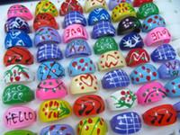 anéis de resina de frete grátis venda por atacado-Frete grátis 100 pcs Amor Tema Mix Resina Anéis Kid Barato Bonito Moda Jóias lotes