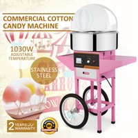 Wholesale Cotton Lid Covers - COMMERCIAL COTTON CANDY MACHINE FLOSS MAKER Brand New Commercial Electric Cotton Candy Machine Floss Maker Pink with Cart Stand & Cover