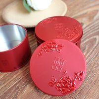 ingrosso decorazione cinese della scatola-Scatola di favore cinese wed poeny rosso scatola di caramelle scatola regalo rustico decorazione della festa nuziale