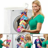 Wholesale Hanging Sock Organizer - SockDock Sock Savers, 2 pack, 2-in-1, Locks Paired Socks in Washer Dryer Closet, Hanging Laundry Organizer