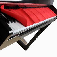 klavye renkleri toptan satış-Yüksek Kaliteli Yumuşak Yün Piyano 88 Klavye Koruyucu Kir geçirmez Kapak Dayanıklı Saf Renk Kırmızı Piyano Toz Kapağı