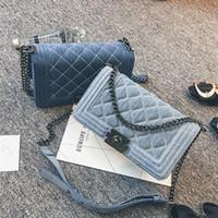 Wholesale Denim Crossbody Bag - Wholesale- Brand Denim Bag Female Luxury Handbags Women Bags Designer Small Chain Shoulder Crossbody Bags For Women Messenger Bag