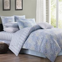 Wholesale King Size Peacock Bedding - Home textile Classic American country style 100% luxury Egyptian cotton 4pcs Bedding set Blue Peacock flower twin king queen size bed sheet