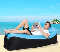 Wholesale Lougnee Inflatable Lounger Air Sofa Portable Waterproof Home Outdoor Beach Lounge Bed Couch Dream Chair with Bag Pockets