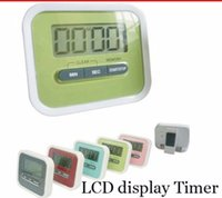 Wholesale count up clock for sale - Group buy 2017 Christmas Gift Digital Kitchen Count Down Up LCD display Timer clock Alarm with magnet stand clip