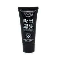 pilaten emme siyah maske toptan satış-2019 Marka Cilt Bakımı BIOAQUA Yüz Siyah Nokta Remover Derin Temizleyici Maske Pilaten Emme Anti Akne Tedavisi Siyah Kafa Maskesi 60g