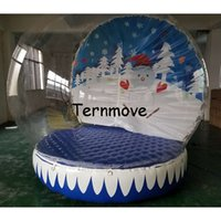 Wholesale inflatable globe ball online - christmas Show Ball giant inflatable snow globe Inflatable Advertise Show Ball PVC Tarpaulin inflatable christmas dome balloon