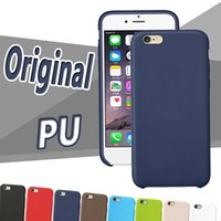 Wholesale Iphone 5s Color Cases - PU Case Ultra Thin Slim Leather Shockproof Back Hard Cases Candy Color Cover For iPhone X 8 7 Plus 6 6S SE 5S 5