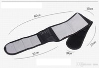 Wholesale Tourmaline Bands Wholesale - Black Beige Adjustable Tourmaline Self-heating Magnetic Therapy Waist Belt Lumbar Support Back Waist Support Brace Double Banded Aja Lumbar