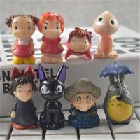 Wholesale Ponyo Figure Pvc - Demishop 8pcs Set Miyazaki Hayao Movie Totoro Delivery Mononoke Ponyo 3-5cm PVC Action Figures Toy Doll Figures Toys Kids Gift