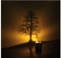 sombra de la lámpara al por mayor-La lámpara de proyección Shadow Shadow LED enciende un regalo de cumpleaños creativo a la luz de las velas