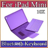 Wholesale Mini Epad Ipad - 10X For iPad Mini Keyboard Case 2015 New Detachable Wireless Bluetooth Keyboard Leather Cases For iPad Mini 5 Colors EPAD 5-JP