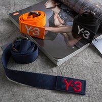 Wholesale Yohji Y3 Yamamoto belt men and women brand canvas belt new hot Fashion Accessories Leisure Unisex Y3 belt