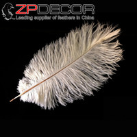 ZPDECOR Top Quality Hand Select 30-35cm (12-14inch) Pretty Natural Ivory White Ostrich Feathers продается для выпускного платья