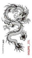 Wholesale Cool Dragon Tattoos - temporary tattoo stickers waterproof men sexy products cool flying Dragon designs high quality fake body chest tatoo