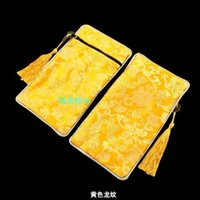 Wholesale Chinese Wedding Favor Bag - Latest Rectangle Zipper Craft Gift Bag Wedding Party Favor Tassel Chinese Silk Brocade Women Travel Makeup Lipstick Bag Cosmetic Pouch