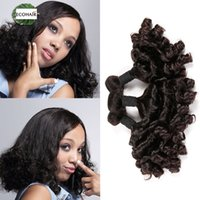 Wholesale Real Raw - 2016 Peruvian Hair Bundles Aunty Funmi Hair Weave Raw Peruvian Bouncy Spiral Romance Curls Real Hair Extension