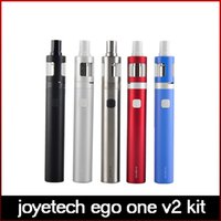 100% Original Joyetech EGo ONE V2 Starter Kit Padrão 2200mAh Bateria 2ml Atomizer CL pure cotton Coil
