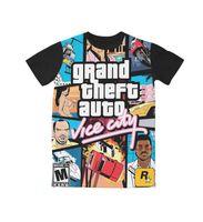Wholesale grand theft auto resale online - Real American USA Size Grand Theft Auto Black D Sublimation print T Shirt Plus size