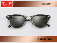 Hot selling factory wholesale top quality 51mm half frame designer club sunglasses Womens Mens master rlei di UV400 protecton mirror sunglass gafas