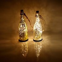 Wholesale Wedding Tables China - Christmas Decoration Solar Table Light Outdoor LED Garden Lights Glass Bottles Wedding Decoration Romantic Birthday Gift