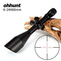 Wholesale Mil Dot Reticle Riflescope - Hunting ohhunt 6-24X60 Rifle Scope Riflescope Mil Dot Glass Etched Reticle Illuminated Side Parallax Adjustment Optical Sight