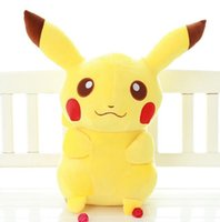 Wholesale Pokemon Doll Pikachu - Pikachu Plush Toys 45CM New Poke Plush Toys Pikachu Toys pocket monster plush dolls Pokmon Stuffed Dolls Xmas Gift FREE SHIPPING D681
