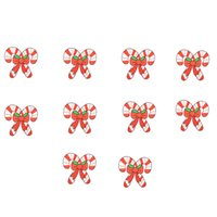 Wholesale Wholesale Christmas Iron Appliques - 10PCS Christmas gift embroidery patches for clothing iron patch for clothes applique sewing accessories stickers on clothes iron on patches