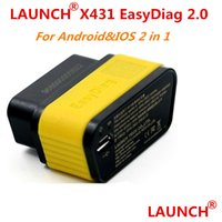 Wholesale X431 Diag - 100% Original Launch X431 EasyDiag 2.0 auto code scanner Launch Easy Diag 2.0 For Android&IOS 2 in 1 FREE ship