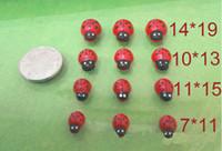 Wholesale Wholesale Ladybug Beads - 100pcs lot Handmade mini ladybug beads ladybugs cartoon Beatles fitting DIY phone