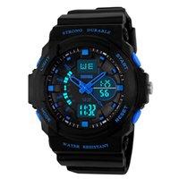 ingrosso orologio militare-Orologio sportivo SKMEI Uomo Sport digitale multifunzione Dual Time orologi militari sveglia