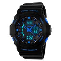 Wholesale Digital Clock Date Time - SKMEI Man Sport Digital Watch Multifunction Dual Time Military Watches Waterproof Alarm Clock