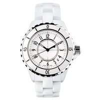Wholesale Ceramic Women - Hot Sale Luxury Brand Lady White Black Ceramic Watches High Quality Quartz Wristwatches For Women Fashion Exquisite Women Watches