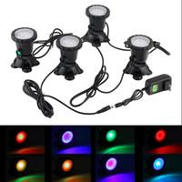 fischwasserlampe großhandel-Wasserdichte IP68 RGB 36 LED Unterwasser Spot Licht für Schwimmbad Brunnen Teich Wasser Garten Aquarium Scheinwerfer Lampe