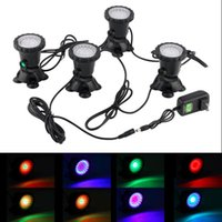 Wholesale Lighting For Fish Aquarium - Waterproof IP68 RGB 36 LED Underwater Spot Light For Swimming Pool Fountains Pond Water Garden Aquarium Fish Tank Spotlight Lamp