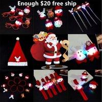 рождественская брошь с проблесковым светом оптовых-Рождество освещение игрушка световой заколка флэш-брошь игрушки Рождество шляпа