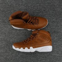 Wholesale Brown Baseball Gloves - Air Retro 9 Basketball Shoes Pinnacle Pack Brown Baseball Glove Features 35 Fashion High Quality 9S Sneakers Athletics Boots With Box
