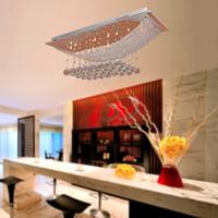 Wholesale flush light fittings resale online - Luxuriant Crystal Pendant Light with Lights Ceiling Light Fixture Flush Mount Chandelier Ceiling Lights Fit for Kitchen Dining Room