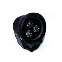 Wholesale Black cover underwater led lights white warm white rgb blue red green DC V W underwater lamp flat lens underwater pool lights