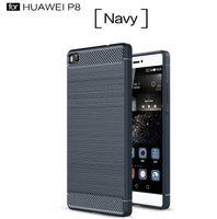 Wholesale Huawei Phone Skins - Ipaky Brush Carbon Fiber Hybrid Armor Case For NOKIA 9 2 3 5 6 Huawei P8 P9 Lite Plus Mate8 V8 Soft TPU PC ShockProof Phone Skin Cover 10pcs